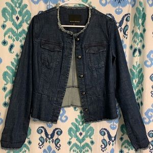 Banana Republic cropped denim jacket